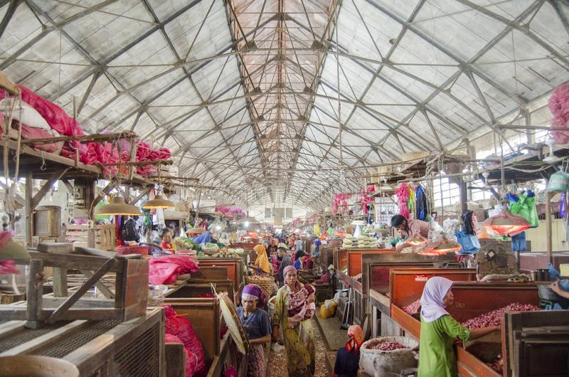 Traditioneller Markt Surabaya Pabean stockfotos