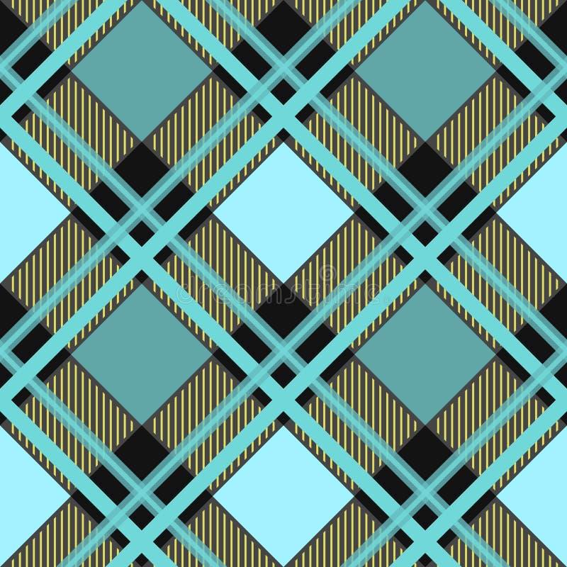 Traditioneller Schottenstoff Kariertes Vektormuster des nahtlosen schottischen Plaids Retro- Textilsammlung Grün lizenzfreie abbildung