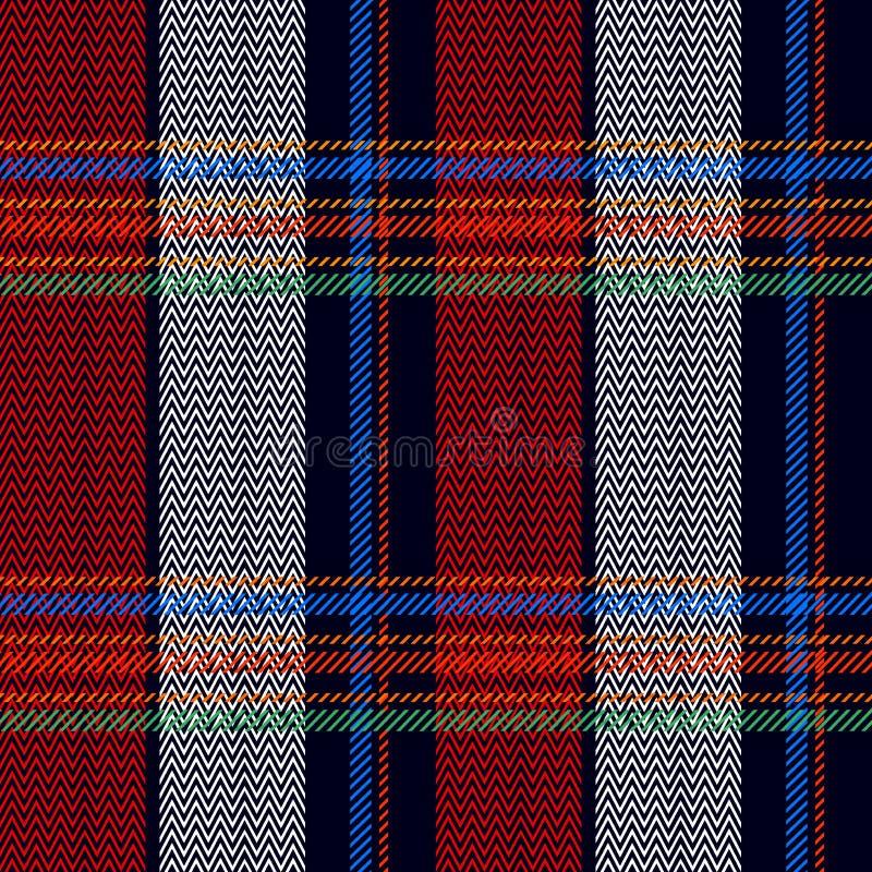Traditioneller Schottenstoff Retro- Textilsammlung vektor abbildung