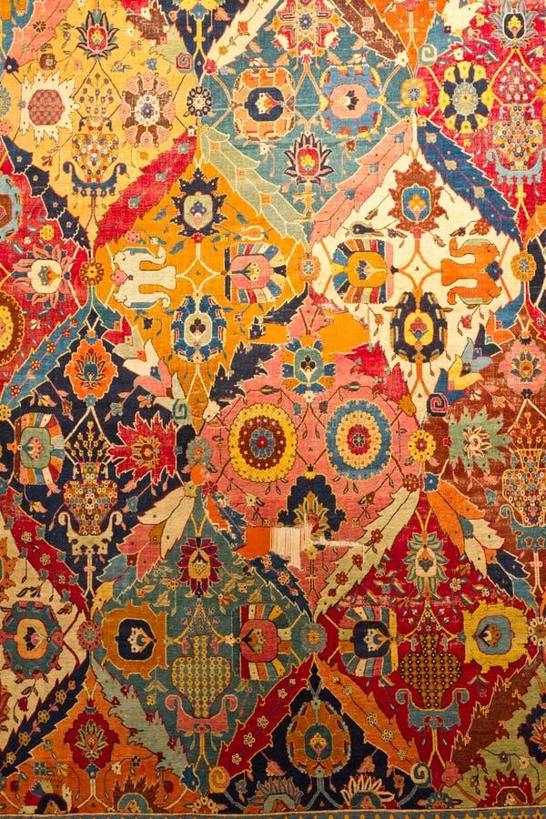 Traditioneller türkischer Teppich stockbild