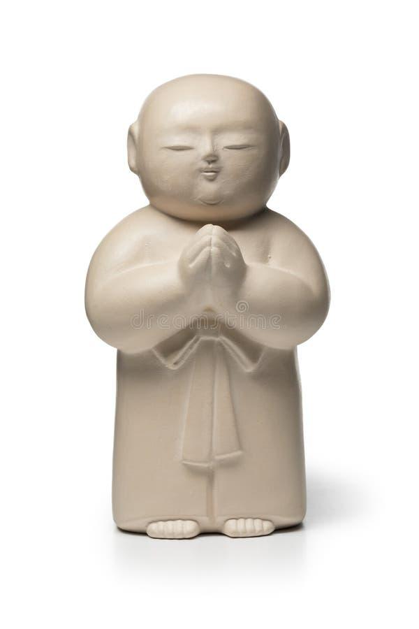 Traditioneller weißer Stein schnitzte Jizo stockbild