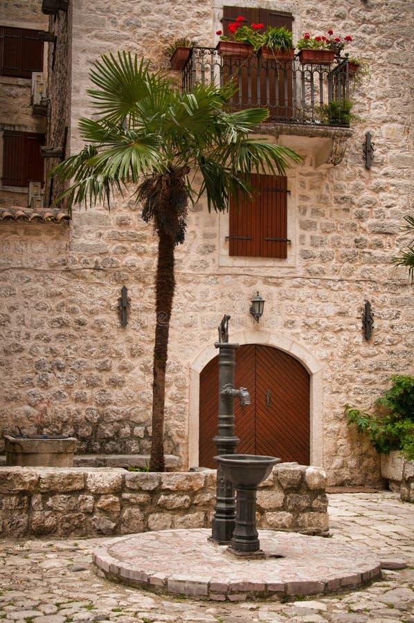 Traditionelles adriatisches Haus stockbild