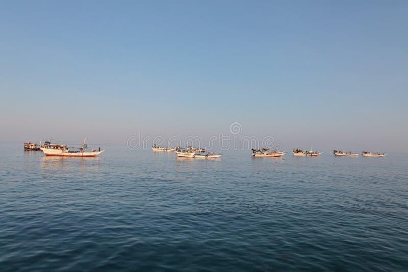 Traditionelles arabisches Fischerboot stockfotografie