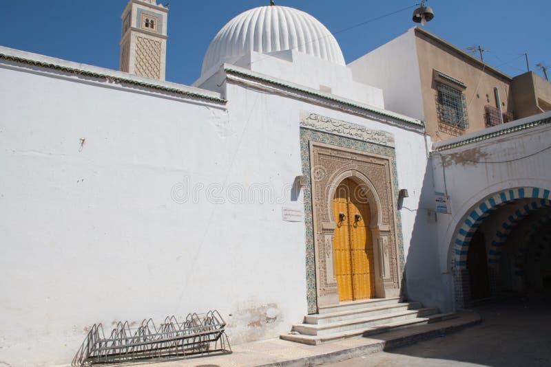 Traditionelles arabisches Gebäude in Tunesien, Hammamet lizenzfreies stockbild
