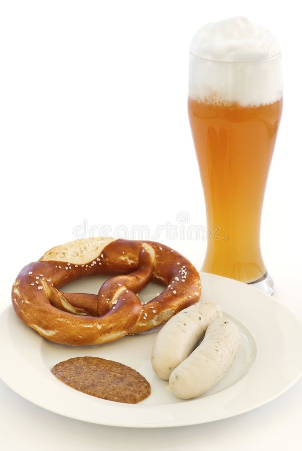 Traditionelles bayerisches Frühstück lizenzfreie stockfotos