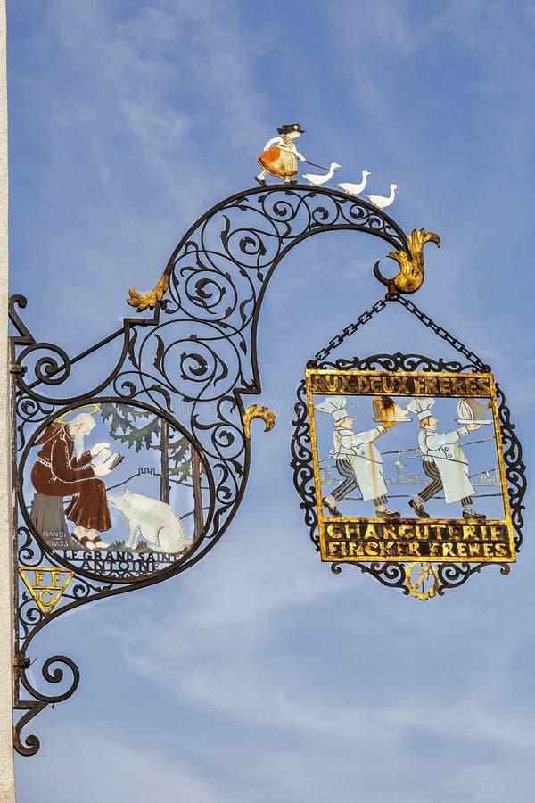 Traditionelles der Metzgerei unterzeichnen herein Colmar