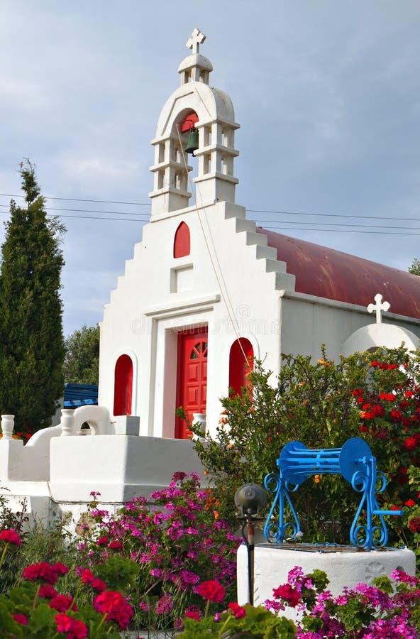 Traditionelles Dorf in Mykonos-Insel lizenzfreie stockbilder