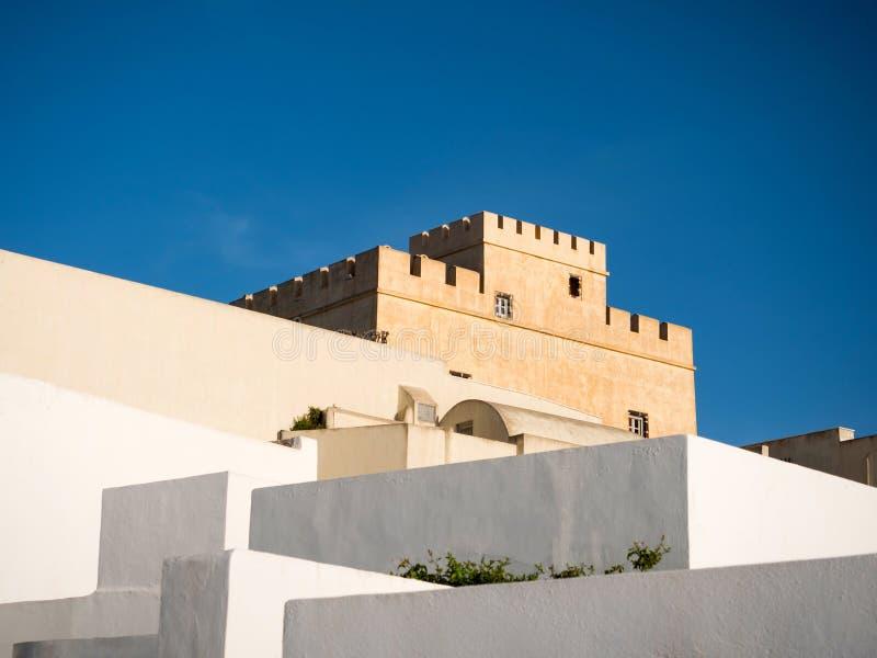 Traditionelles Haus in Santorini-Insel lizenzfreies stockfoto