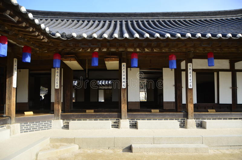 Traditionelles Korea-Stadtbild lizenzfreies stockbild