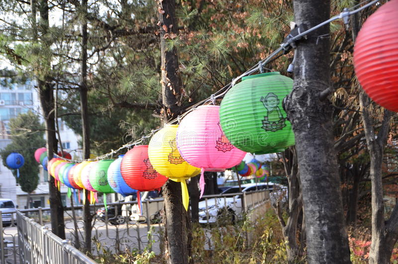 Traditionelles Korea-Stadtbild stockfotos