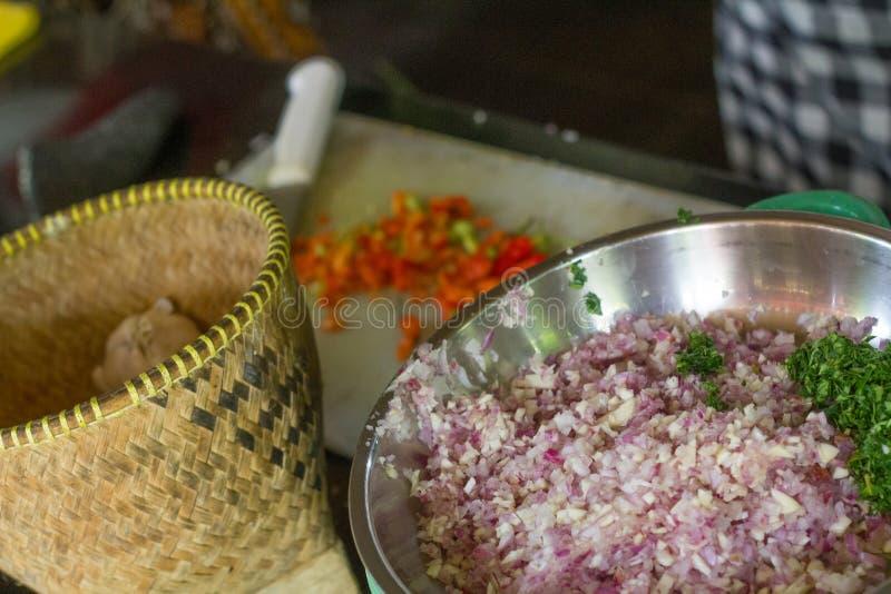 Traditionelles Lebensmittel des Balinese lawar stockfoto