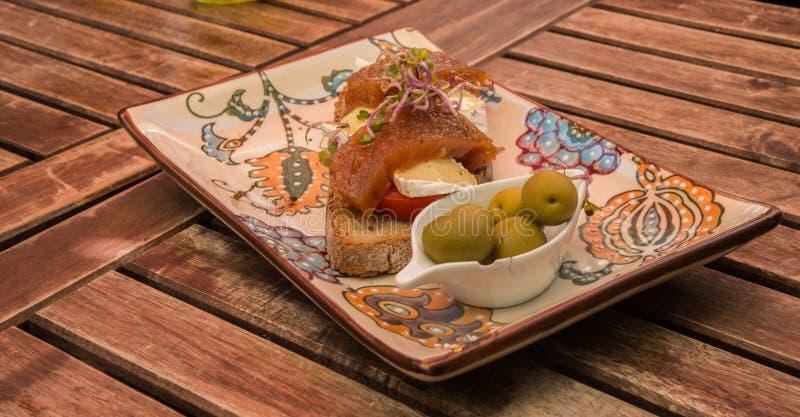 Traditionelles Lebensmittel von Mallorca stockbild
