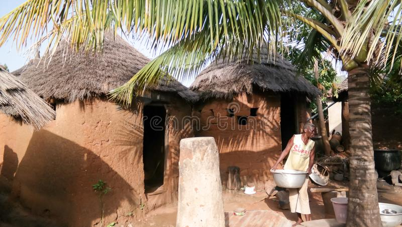 Traditionelles Leutedorf Losso alias Nawdba in Doufelgou, Kara-Region, Togo lizenzfreies stockfoto