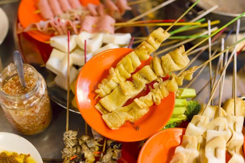Traditionelles lok-lok Straßenlebensmittel von Malaysia lizenzfreie stockfotografie