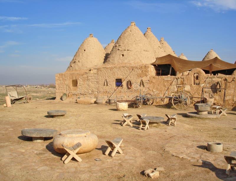 Traditionelles mudbrick 'Bienenstock'Haus in Harran, die Türkei lizenzfreies stockfoto