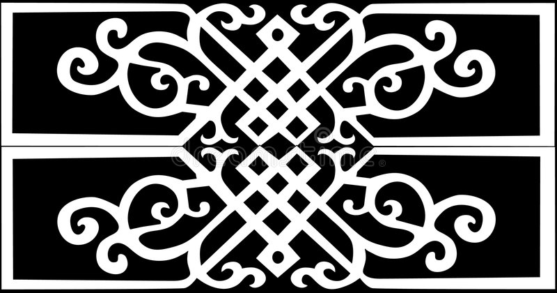 Traditionelles Muster der weißen Farbe stock abbildung