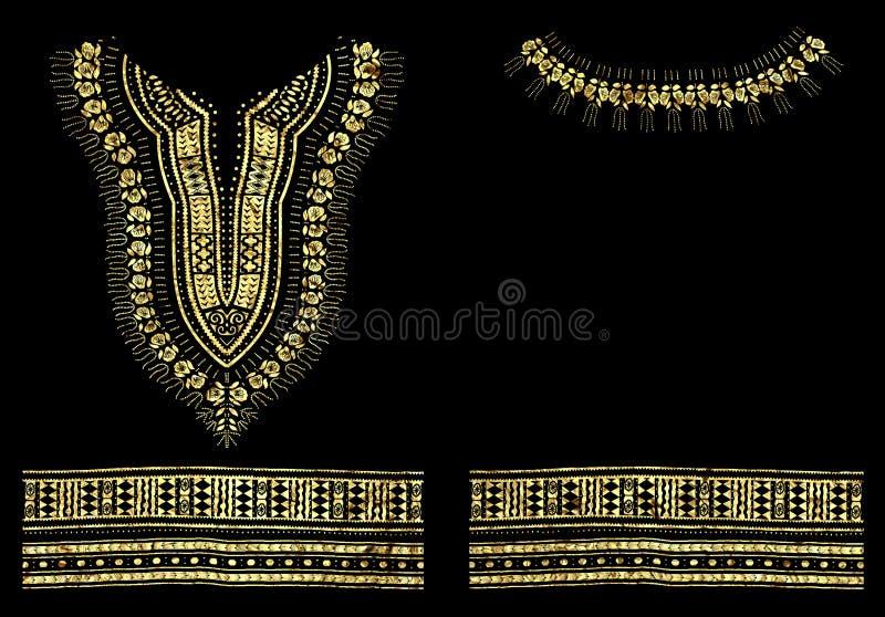 Traditionelles Muster-Folien-Grafikdesign Dashiki afrikanisches lizenzfreie abbildung