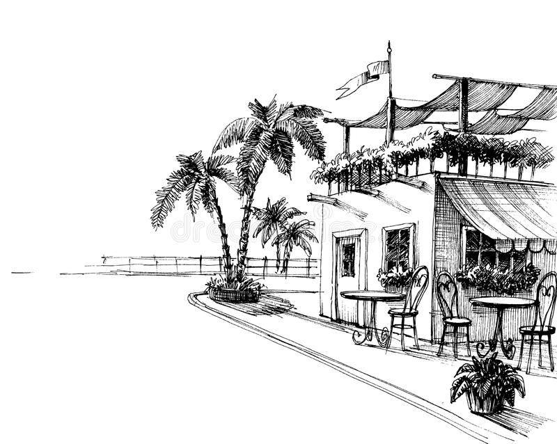Traditionelles Restaurant lizenzfreie abbildung