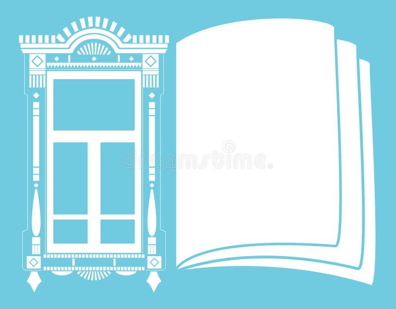 Traditionelles russisches Fenster vektor abbildung