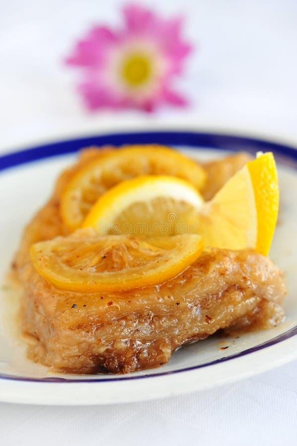 Traditionelles saftiges Nachtisch Baklava lizenzfreies stockbild