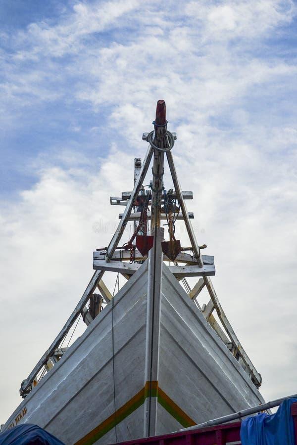 Traditionelles Schiff Phinisi-Schiffs-Indonesiens lizenzfreie stockbilder