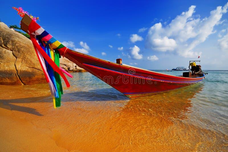 Traditionelles siamesisches Boot lizenzfreie stockfotografie