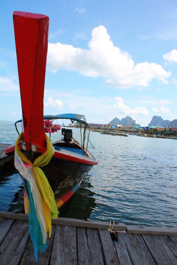 Traditionelles siamesisches Fischerboot stockfotos