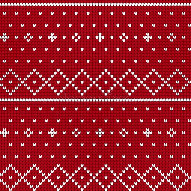 Traditionelles strickendes Muster für hässliche Strickjacke lizenzfreie abbildung