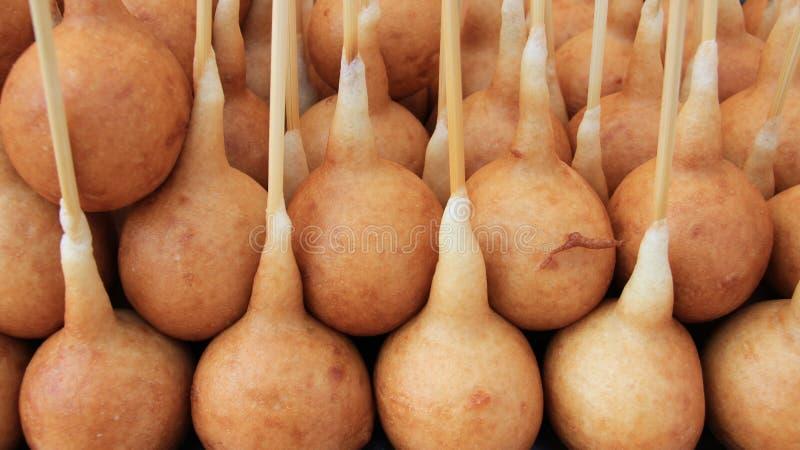 Traditionelles thailändisches Nachtisch-Einheimisch-Lebensmittel lizenzfreie stockbilder