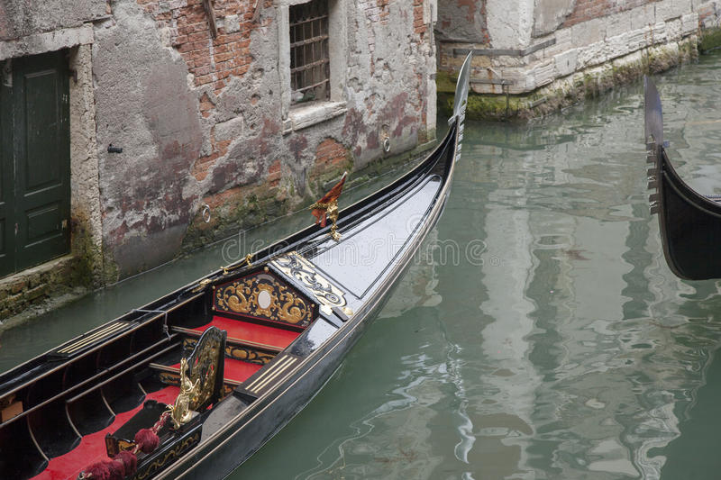 Traditionelles venetianisches Gondel-Boot, Venedig lizenzfreie stockfotos