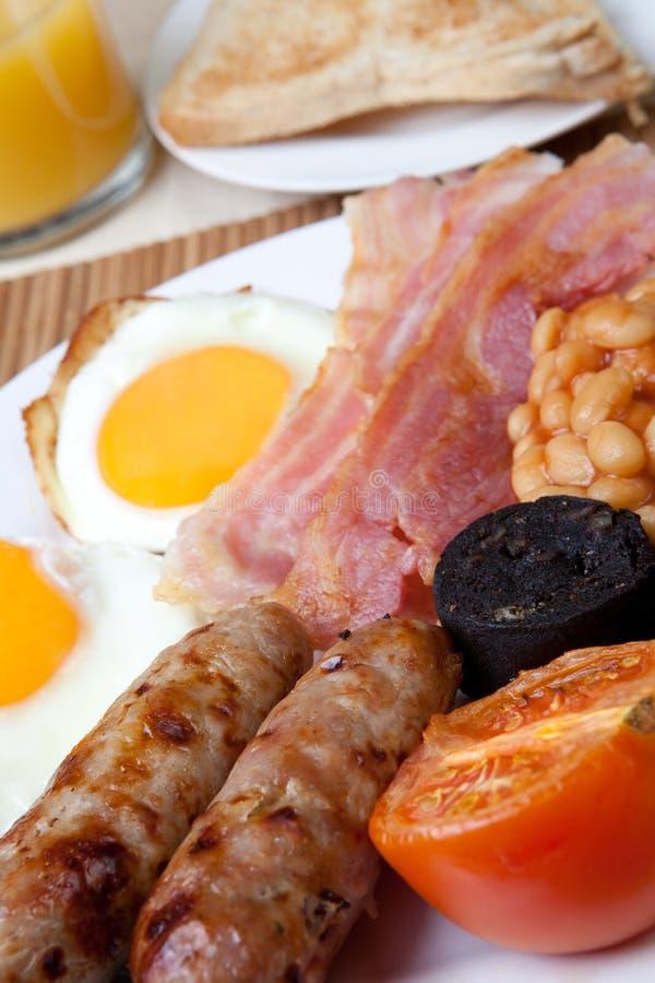 Traditionelles volles englisches Frühstück lizenzfreies stockfoto