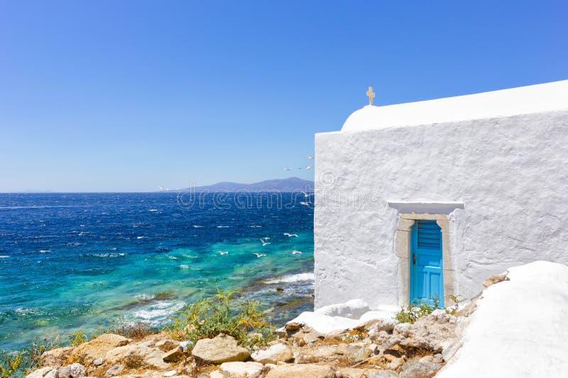 Traditionelles weißes Haus in Griechenland lizenzfreies stockfoto