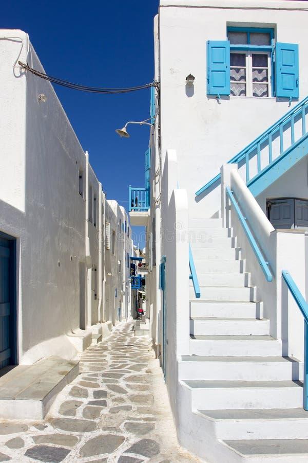 Traditionelles weißes Haus in Mykonos lizenzfreies stockfoto