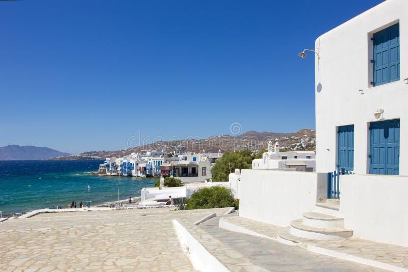 Traditionelles weißes Haus in Mykonos lizenzfreie stockbilder