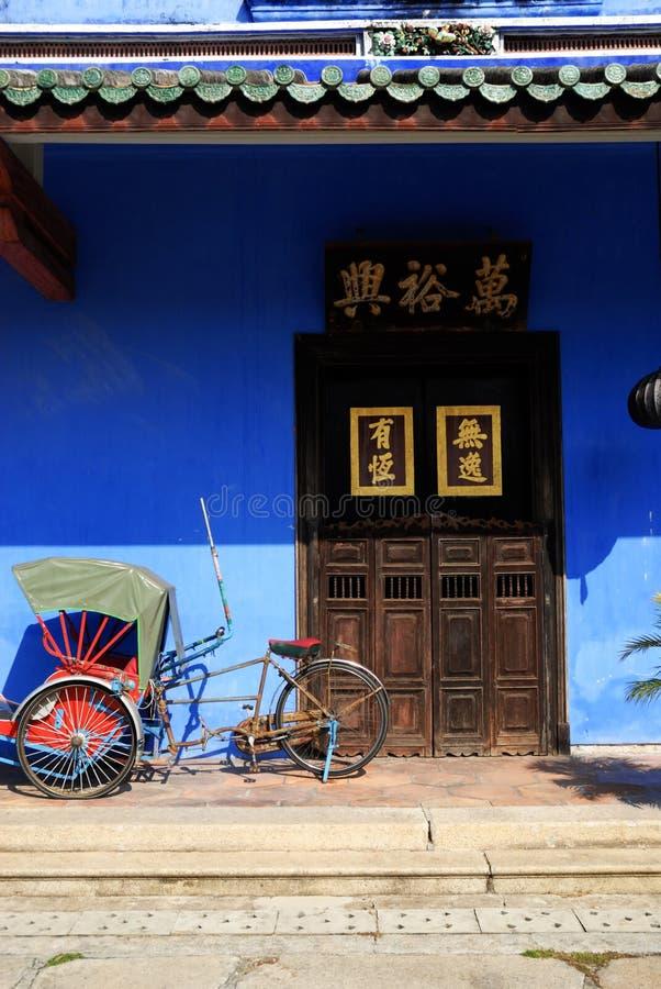 traditionellt blått kinesiskt hus arkivfoton