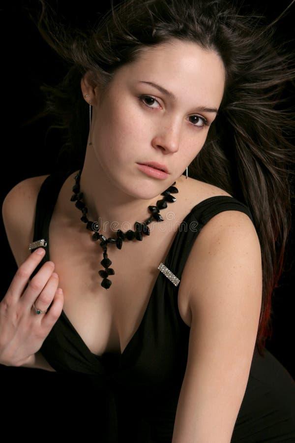 traditionellt brunettmode royaltyfria foton