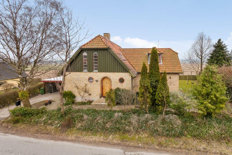 traditionellt danskt hus royaltyfria foton