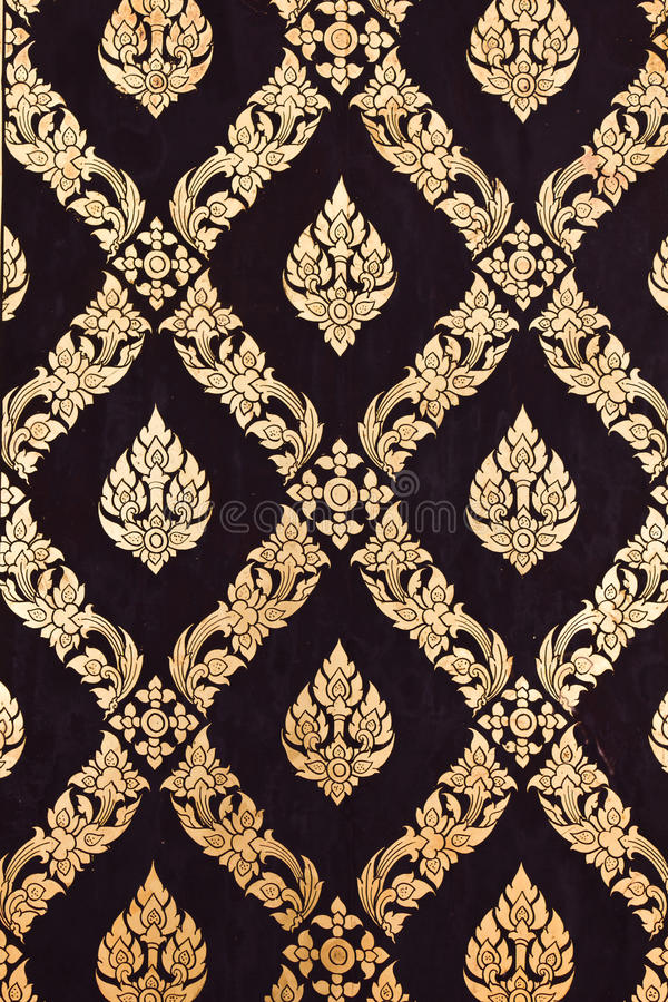 traditionellt för stil för konstblommamodell thai royaltyfria bilder