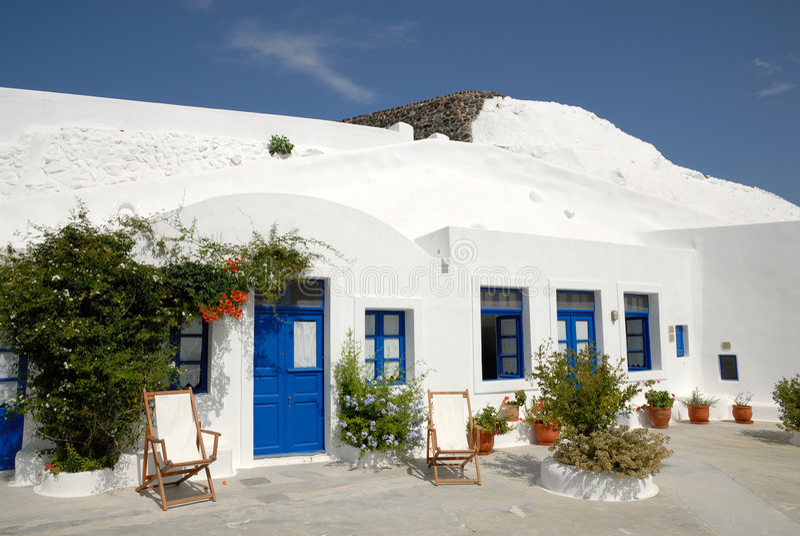 traditionellt greece hus arkivfoton