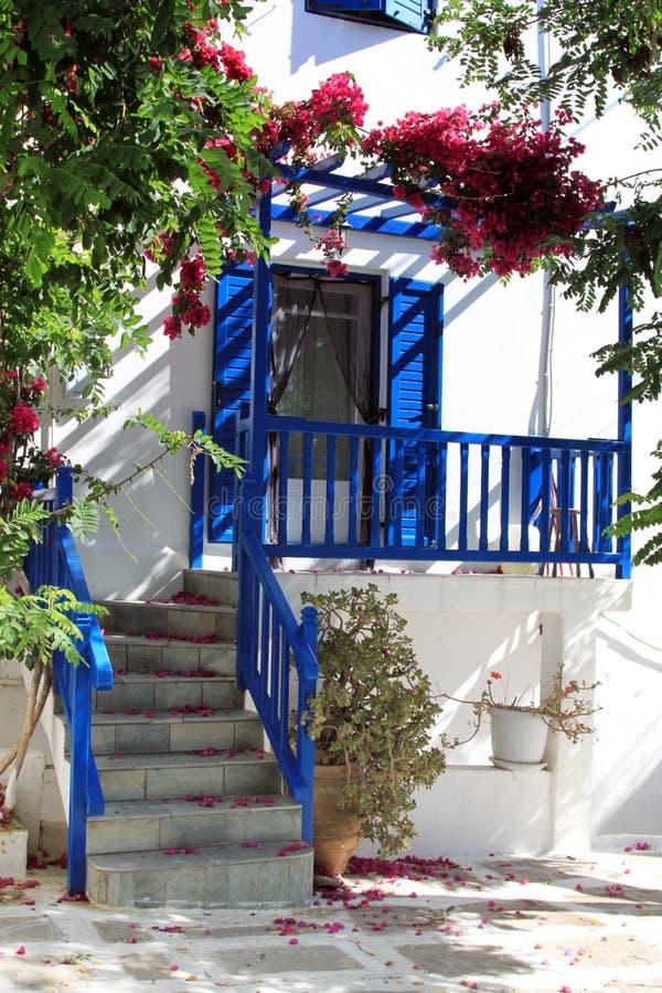 traditionellt greece hus royaltyfri bild