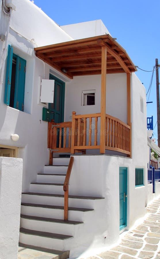 traditionellt greece hus royaltyfri fotografi
