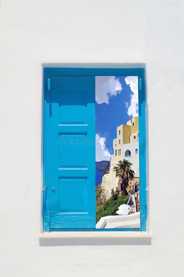 Traditionellt grekiskt hus på den Mykonos ön arkivbild