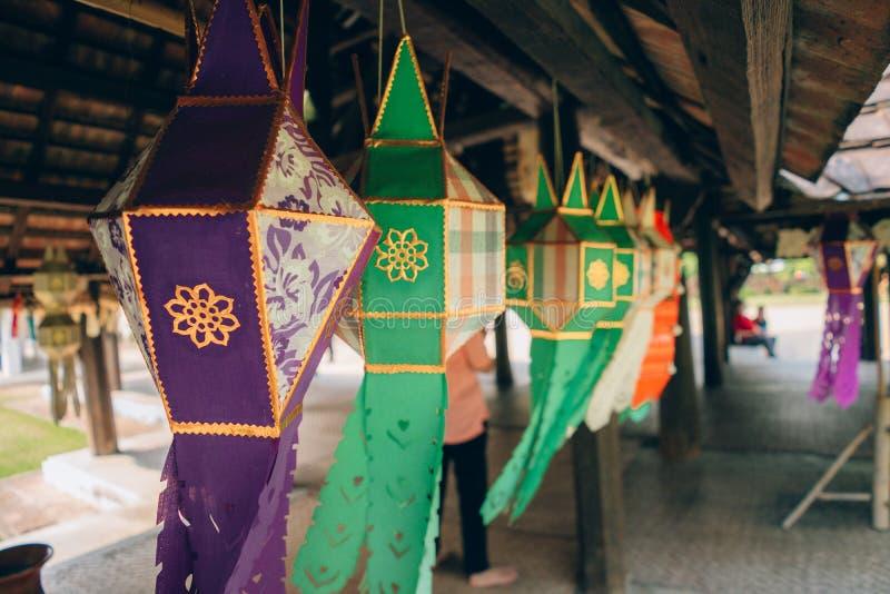 Traditionellt handgjort f?r Lanna lampa royaltyfri foto