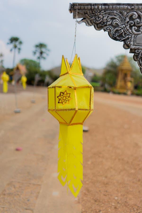 Traditionellt handgjort f?r Lanna lampa royaltyfria foton