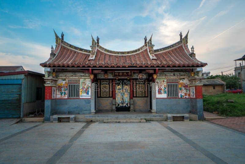 Traditionellt hus i en taiwanesisk by arkivfoton