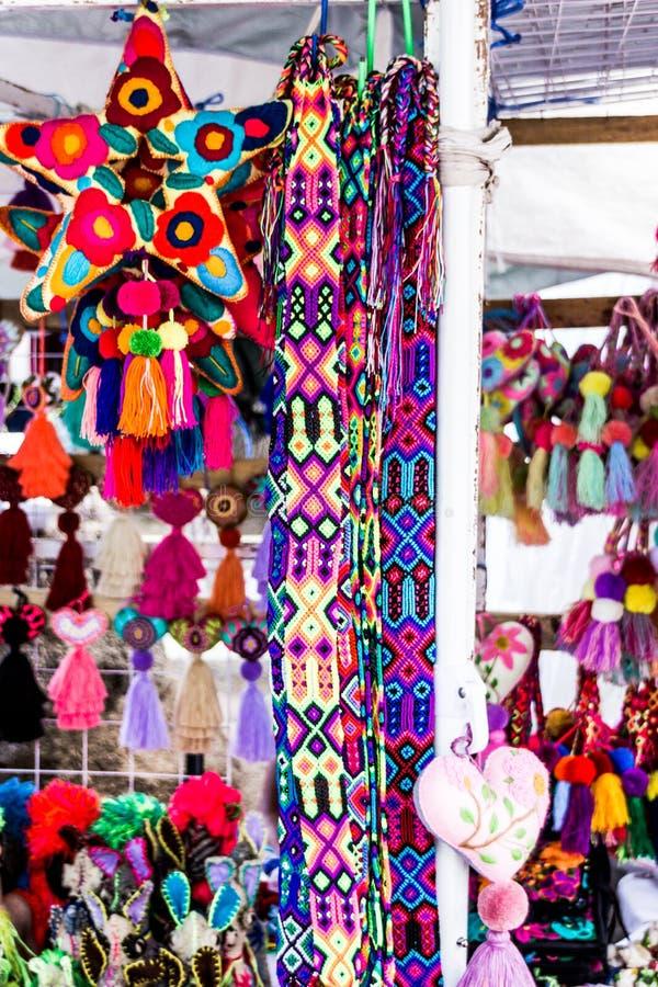 Traditionellt infött handcrafts i Oaxaca Mexico arkivfoto