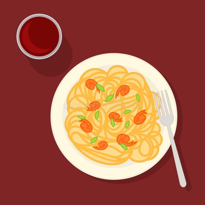 Traditionellt italienskt pastabegrepp stock illustrationer