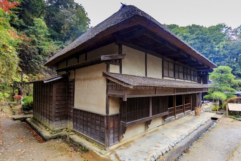 Traditionellt japanskt hus i Kawasaki royaltyfria bilder