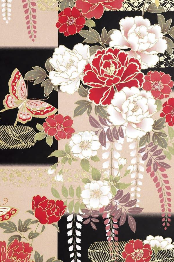 Traditionellt japanskt modellorigamipapper stock illustrationer
