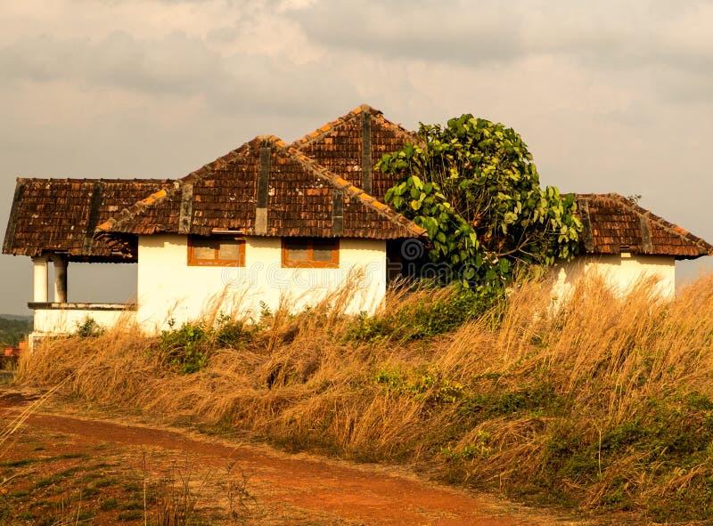 Traditionellt Kerala hus fotografering för bildbyråer